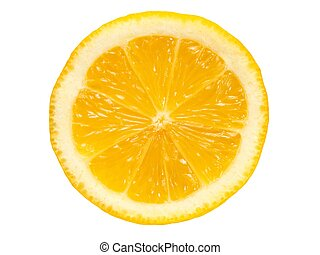 Lemon slice on white