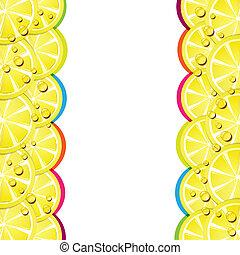 Lemon slices - Background with lemon slices