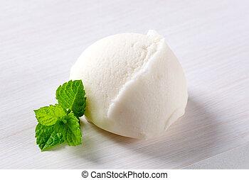 Lemon sorbet - Scoop of refreshing ice cream