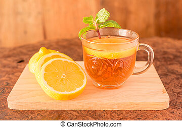 Lemon Teacup with lemon slices