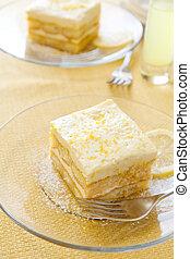 Lemon Tiramisu - Lemoncello syrup soaked lady fingers...