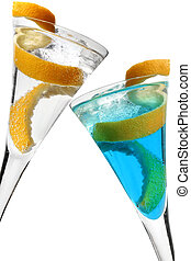 Cocktail with lemon twist