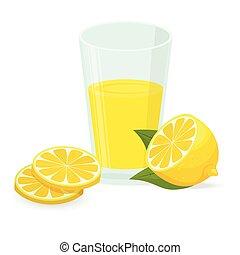 Lemon vector icon illustration isolated on white background.