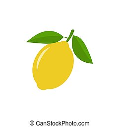 Lemon vector icon illustration isolated on white background