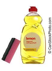 Lemon washing up liquid studio cutout