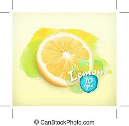 Lemon watercolor illustration