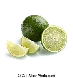 Lemon with half lemon - Lemon with half and quarter pieces...