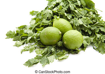 Lemon with parsley