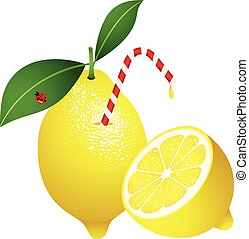 Lemon with Straw