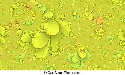Lemon yellow abstract fractal background