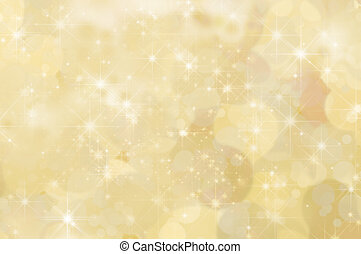 Lemon Yellow Abstract Star Background