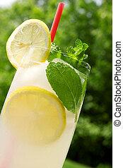 Lemonade - A glass of a fresh lemonade