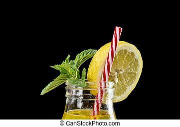 Lemonade and mint refreshment