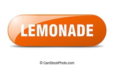 lemonade button. sticker. banner. rounded glass sign - ...