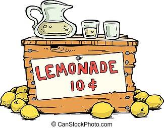 Lemonade - Trade lemonade on a white background vector...