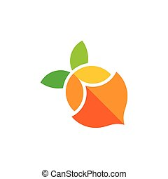 lemonade colorful geometric shadow design symbol logo vector