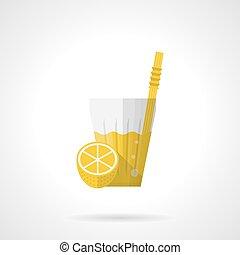 Lemonade flat color vector icon