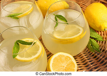 Lemonade - Freshly squeezed mint lemonade.