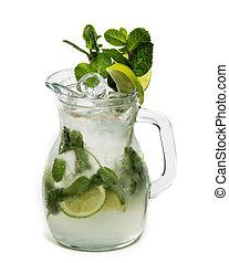 Lemonade in pitcher