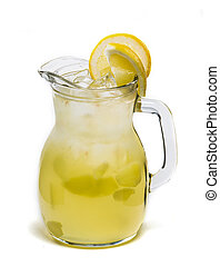 Lemonade Pitcher with a clipping path