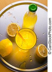 Lemonade served on a tray