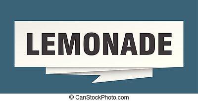 lemonade sign. lemonade paper origami speech bubble. ...