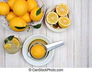 Lemonade Squeezing Still Life