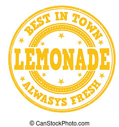 Lemonade stamp - Lemonade grunge rubber stamp on white,...