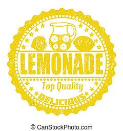 Lemonade stamp - Lemonade grunge rubber stamp on white, ...