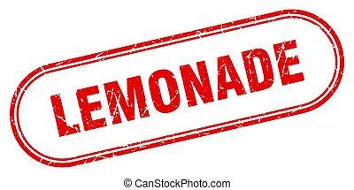 lemonade stamp. rounded grunge textured sign. Label - ...