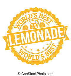 Lemonade stamp - Grunge rubber stamp with the word Lemonade...