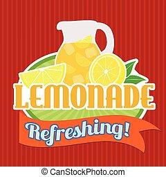 Lemonade sticker or label