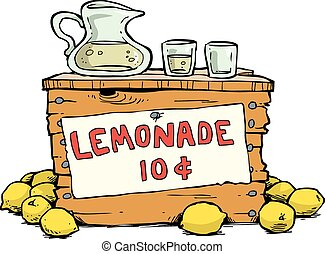 Trade lemonade on a white background vector illustration