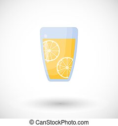 Lemonade vector flat icon