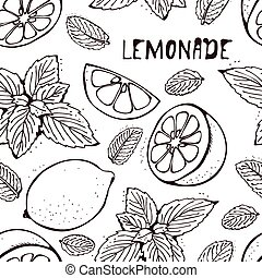Lemonade vector pattern