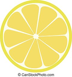 Lemone icon. Citrus. Refreshing drink. Vector illustration...