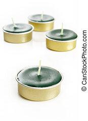 Lemongrass Fragance Candles on white background