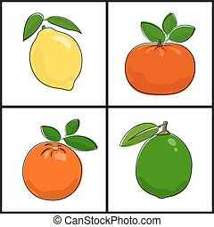 Lemon,Orange,Mandarin,Lime