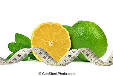 Lemons and Limes and measuring tape - Lemons and Limes with...