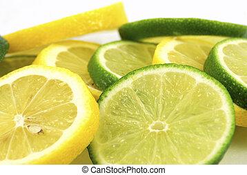 Lemons and limes - slices lemons and limes