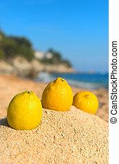 Lemons at the beach
