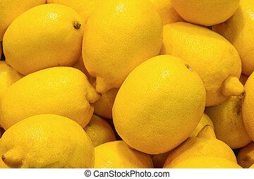 Lemons. Grocery store