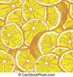 Lemons hand drawn seamless pattern