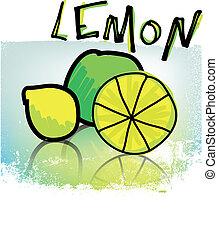 lemons, illustration