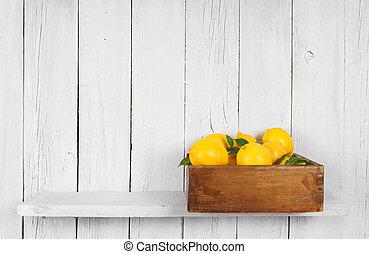 Lemons in a box