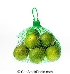 lemons in green net