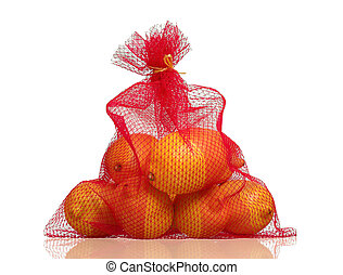 Lemons in net bag