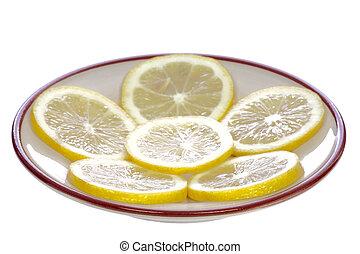 Lemons on the saucer
