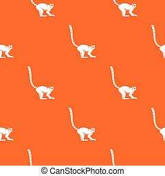 Lemur monkey pattern seamless