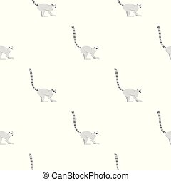 Lemur pattern seamless